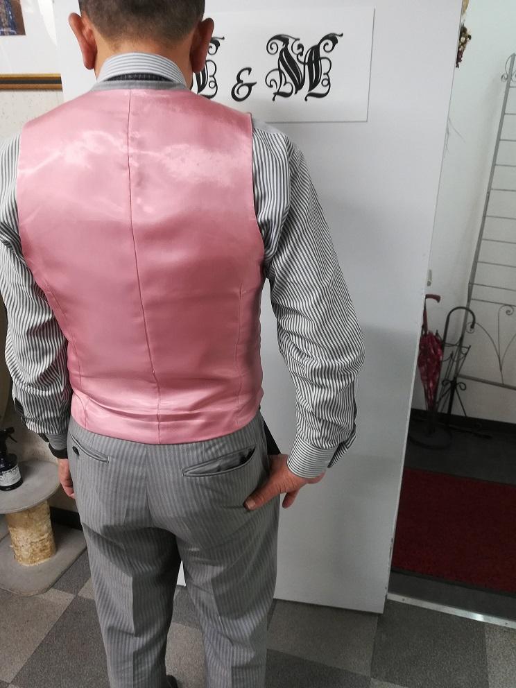 グレーストライプスーツ